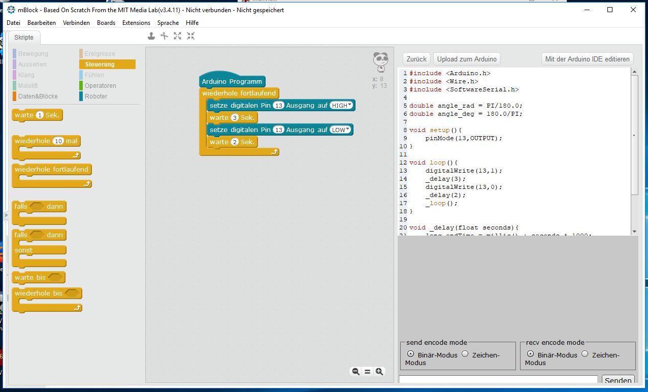 arduino grafisch programmieren
