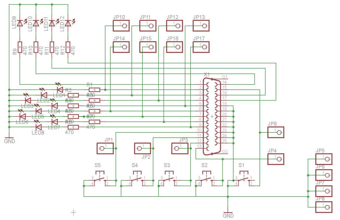 elektronik projekte parallelport monitor. Black Bedroom Furniture Sets. Home Design Ideas